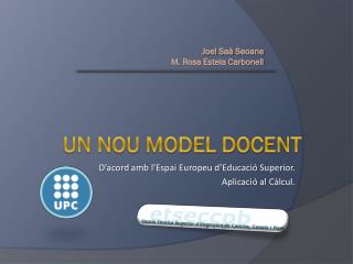 UN NOU MODEL DOCENT