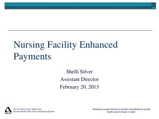 Nursing Facility Enhanced Payments
