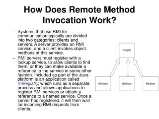 How Does Remote Method Invocation Work?