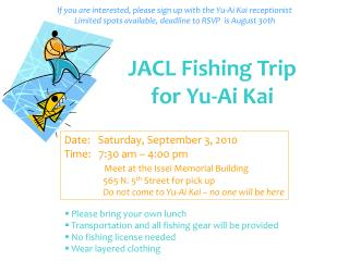 JACL Fishing Trip for Yu-Ai Kai
