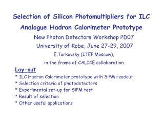 Selection of Silicon Photomultipliers for ILC Analogue Hadron Calorimeter Prototype
