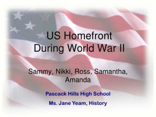 US Homefront During World War II