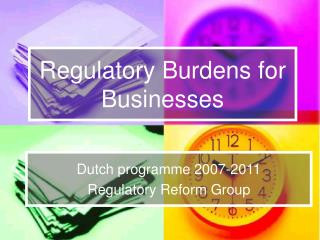 Regulatory Burdens for Businesses