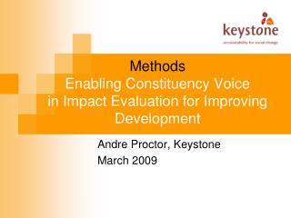Methods Enabling Constituency Voice in Impact Evaluation for Improving Development