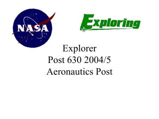 Explorer Post 630 2004/5 Aeronautics Post