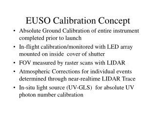 EUSO Calibration Concept