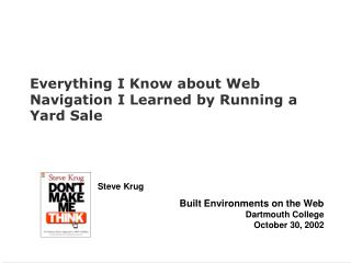 Everything I Know about Web Navigation I Learned by Running a Yard Sale