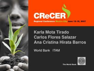 Karla Mota Tirado Carlos Flores Salazar Ana Cristina Hirata Barros World Bank   ITAM