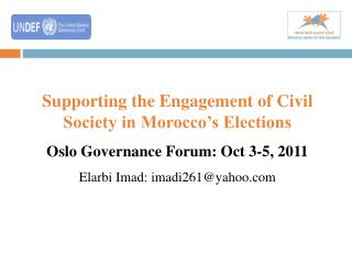 Supporting the Engagement of Civil Society in Morocco's Elections