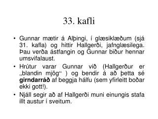 33. kafli