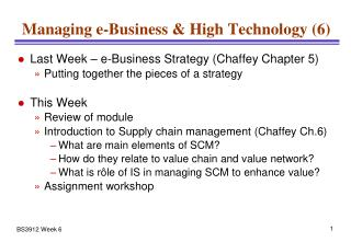 Managing e-Business & High Technology (6)