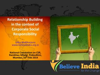 Relationship Building in the context of   Corporate Social Responsibility