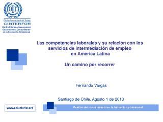 Las competencias laborales y su relación con los servicios de intermediación de empleo