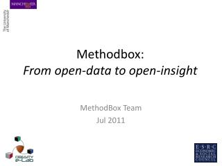 Methodbox: From open-data to open-insight