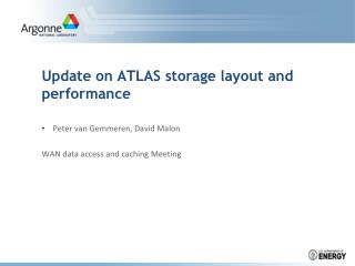 Update on ATLAS storage layout and  performance