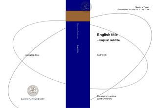 English title – English subtitle