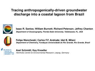 Tracing anthropogenically-driven groundwater discharge into a coastal lagoon from Brazil