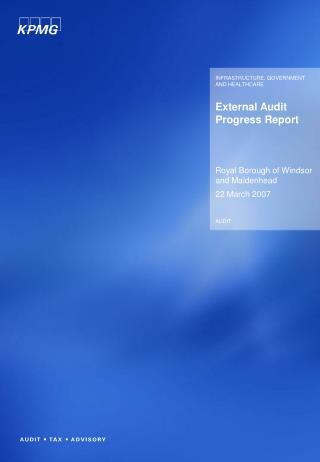 External Audit Progress Report