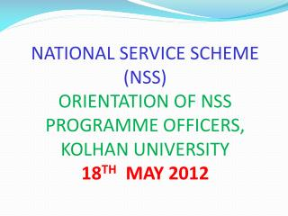 Cardinal Principle, Objectives and Motto of NSS