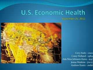 U.S. Economic  Health September 21, 2011