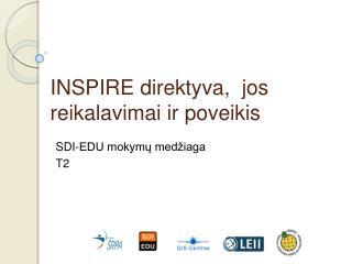 INSPIRE  direktyva , � jos  reikalavimai ir poveikis