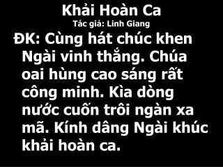 Khải Hoàn Ca Tác giả: Linh Giang