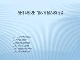 Anterior Neck Mass #2