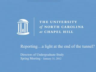 Reporting…a light at the end of the tunnel?