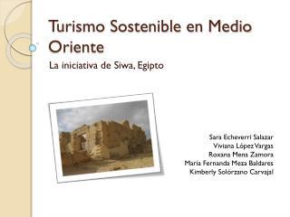 Turismo Sostenible en Medio Oriente