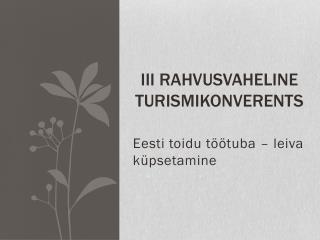 III Rahvusvaheline turismikonverents