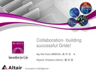 Collaboration- building successful Grids!