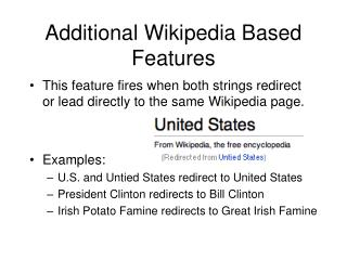 Additional Wikipedia Based Features