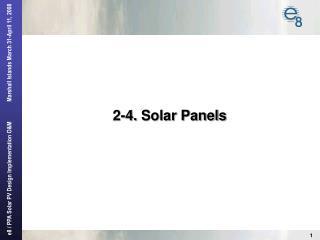 2-4.  Solar Panels