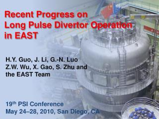Recent Progress on  Long Pulse Divertor Operation in EAST
