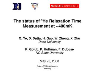 The status of  3 He Relaxation Time Measurement at ~400mK