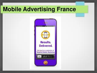 Mobile Advertising France