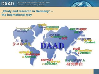 �Study and research in Germany� � the international way