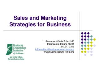Sales and Marketing Strategies for Business