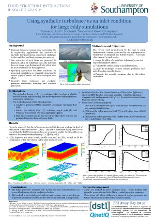 Using synthetic turbulence as an inlet condition for large eddy simulations