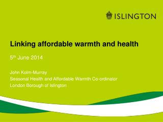 Linking affordable warmth and health