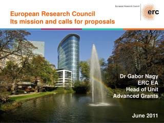 European Research Council Its mission and calls for proposals