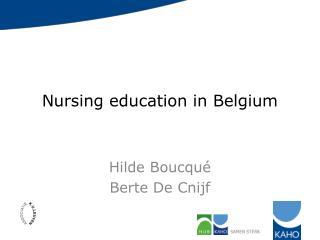 Nursing education in Belgium
