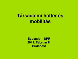 T�rsadalmi h�tt�r �s mobilit�s