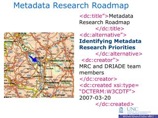Metadata Research Roadmap