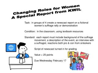 Changing Roles for Women A Special Report from KWIL