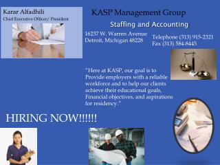 Staffing and Accounting