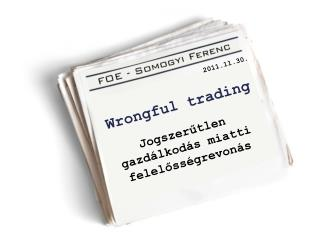 Wrongful trading