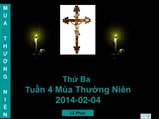 Thứ Ba Tu ần 4 Mùa Thường Niên 2014-02-04