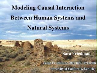 Sara Friedman Santa Fe Institute 2002 REU Program University of California, Berkeley