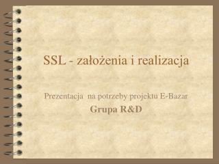 SSL - założenia i realizacja